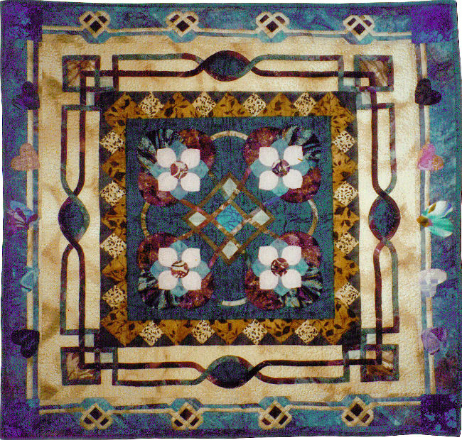QED Quilts: Kathy's Round Robin Quilt: Celtic & Teal : kathy quilts - Adamdwight.com